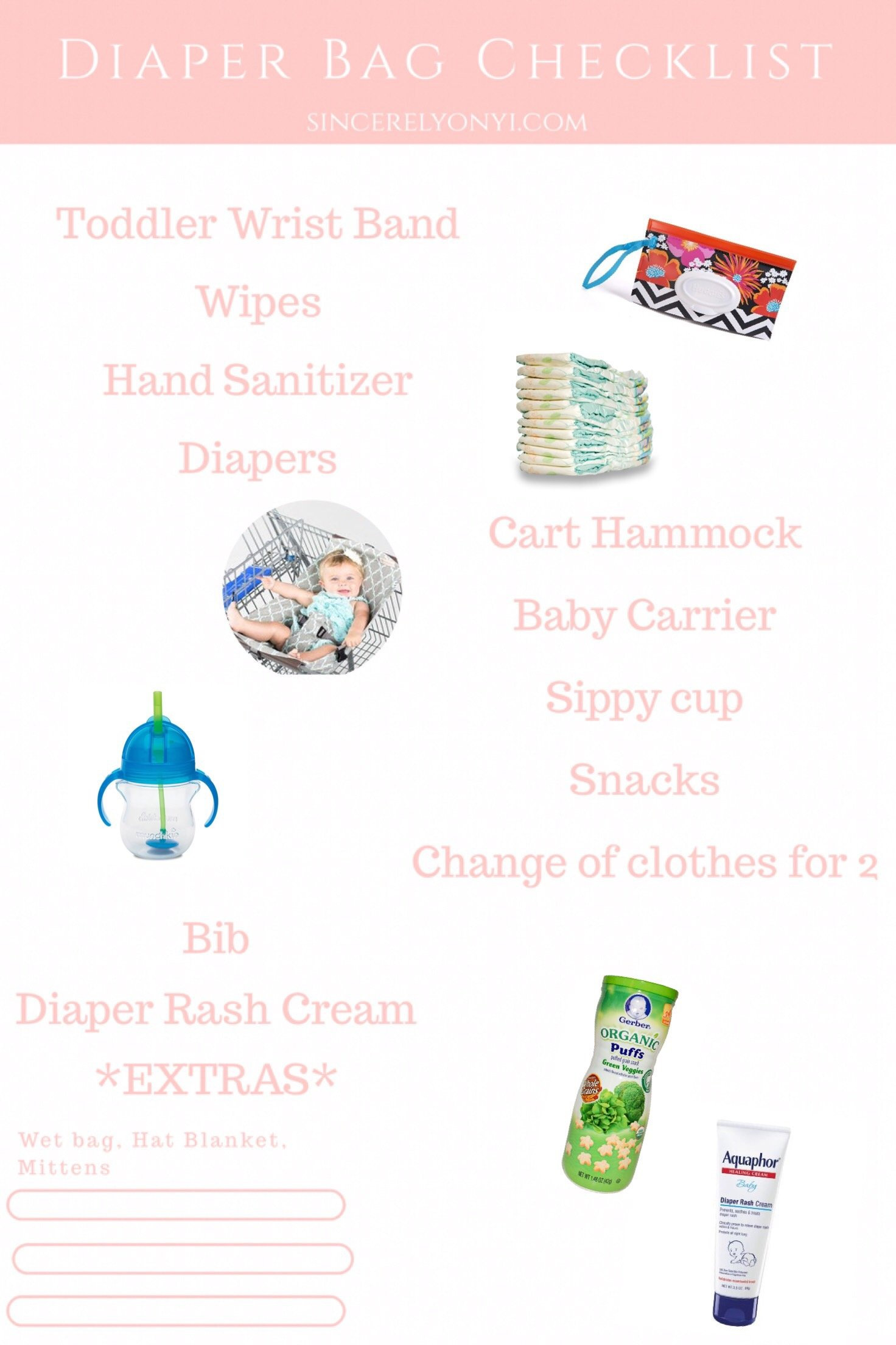 Checklist Click Here Or Scroll To Find Out What I Love Having In My Diaper Bag And Why