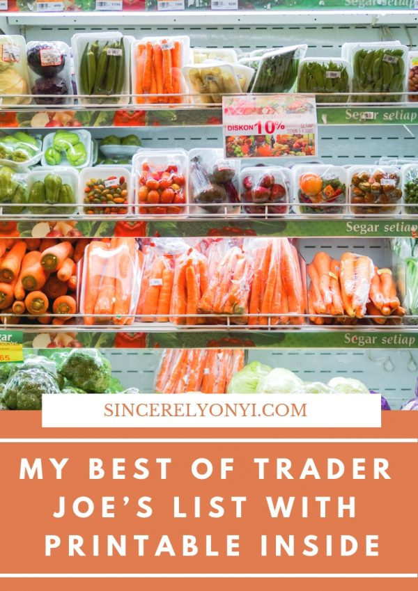 My Best Of Trader Joe's List With Printable Inside shopping lists, shopping list grocery, shopping list printable, shopping lists budget, shopping lists healthy